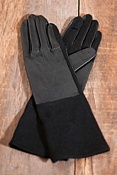 Women's Holed-It Leather and Wool Texting Gloves