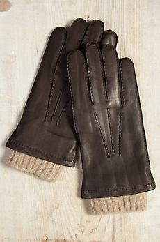 Men's 2-in-1 Cashmere-Lined Deerskin Leather Gloves
