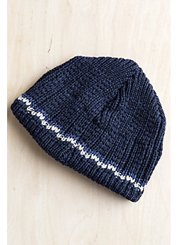 Check Stripe Merino Wool Hat