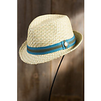 "Malibu Goorin Brothers Straw Fedora Hat, Natural, Size Medium (22 1 / 4"" = Size 7 1 / 8) Western & Country"