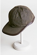Oil Cloth & Leather Baseball Cap