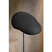 Crushable Wool Felt Ascot Hat, BLACK, Size Large (7 1/4–7 3/8)
