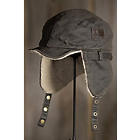 Weathered Cotton Aviator Cap, BROWN, Size S/M (6.75 - 7.125)