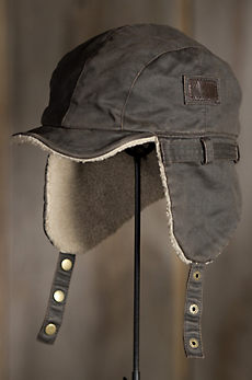 Weathered Cotton Aviator Cap