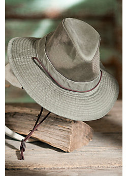 Garment Washed Twill Safari Hat