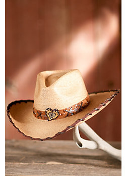 Women's Palm Leaf Straw Outback Hat