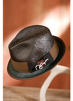 Wave Straw Fedora Hat