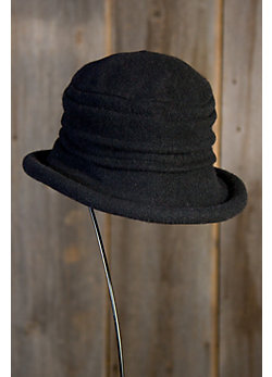 Women's Boiled Wool Cloche Hat