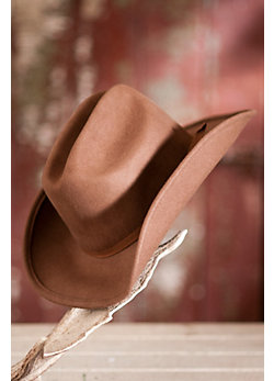 Women's Shapeable Wool Felt Cattleman Hat