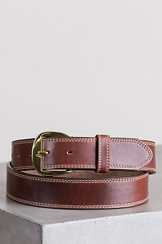 Oiled Fancy Padded Leather Belt