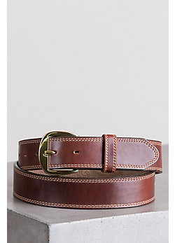 Men's Oiled Fancy Padded Leather Belt