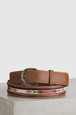 Horsehair Ribbon Braid Leather Belt