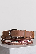 Leather Braid Leather Belt