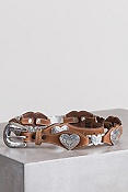 Women's Linked Hearts Tony Lama Leather Belt