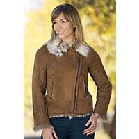 Women's Erika Toscana Sheepskin Jacket, Ante Sabon, Size 10 Western & Country
