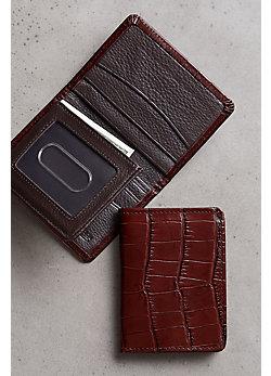 Rockefeller Flip-Fold Leather Wallet