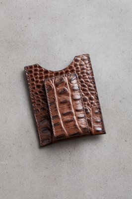 Kansas Hornback Leather Money Clip