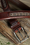Mesquite Diamond Leather Belt