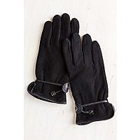 Women's Deerskin Driver'S Gloves, Black, Size 7 Western & Country
