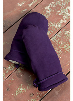 Women's Ali Sueded Deerskin Leather Mittens