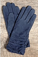 Women's Ruching Long Suede Gloves