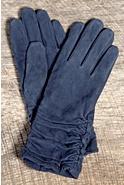 Women's Ruching Long Suede Gloves