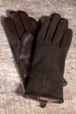 Women's Suede and Lambskin Leather Gloves