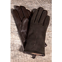 Women's Suede And Lambskin Leather Gloves, Chocolate, Size Medium (7) Western & Country