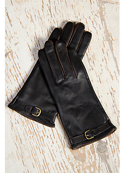 Women's European-Style Lambskin Leather Gloves