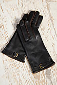 Women's European Style Lambskin Leather Gloves