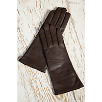 Womens Classic Long Lambskin Leather Gloves with Cashmere Lining CHOCOLATE Size XLARGE  8 $69.00 AT vintagedancer.com