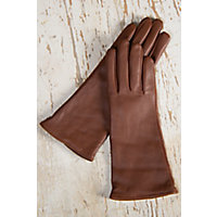 Womens Classic Long Lambskin Leather Gloves with Cashmere Lining CHESTNUT Size XLARGE  8 $69.00 AT vintagedancer.com