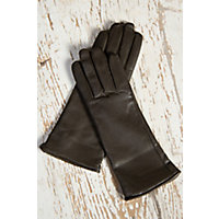 Womens Classic Long Lambskin Leather Gloves with Cashmere Lining PINE Size XLARGE  8 $69.00 AT vintagedancer.com