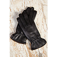 Overland Women's Casual Cable Stitch Lambskin Leather Gloves