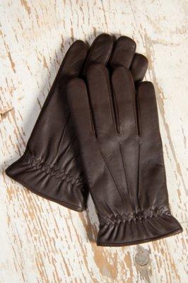 Men's Digital Print Lambskin Leather Gloves