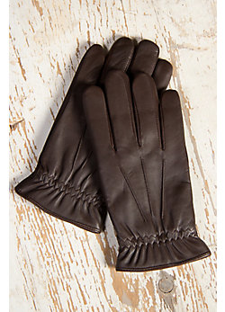 Men's Digital Print Lambskin Leather Gloves