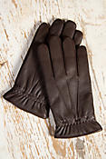 Men's Digital Print Palm Lambskin Leather Gloves