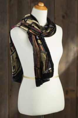 Picasso Silk Velvet Scarf