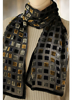Women's Darling Silk Velvet Scarf