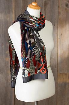 Intrigue Silk Velvet Scarf