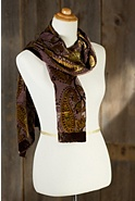 Paisley World Velvet Burnout Silk Scarf