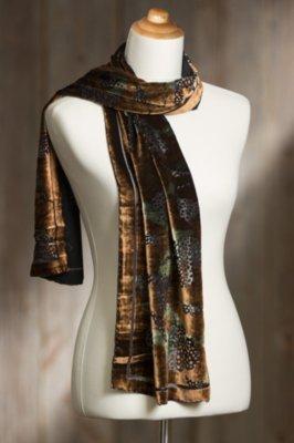 Holiday Silk Velvet Scarf