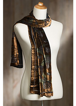Holiday Silk Velvet Scarf