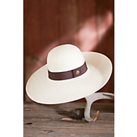 """Macey Goorin Brothers Straw Hat, White, Size Small (21 7 / 8"""" = Size 7) Western & Country"""