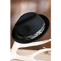 "Big Frank Goorin Brothers Fedora Hat, Black, Size Medium (22 1 / 4"" = Size 7 1 / 8) Western & Country"