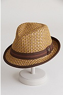 Eric B Goorin Brothers Straw Fedora Hat