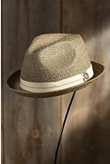 Humphrey Goorin Brothers Crushable Straw Fedora Hat