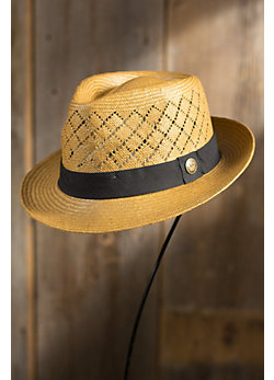 Emile Goorin Brothers Straw Fedora Hat