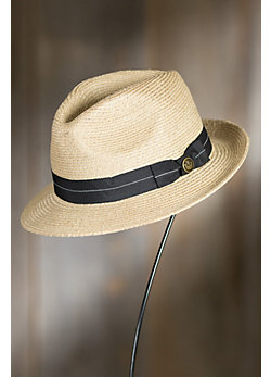 Crystal Blue Goorin Brothers Straw Fedora Hat