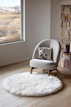 Overland 4' Round Premium Australian Sheepskin Rug